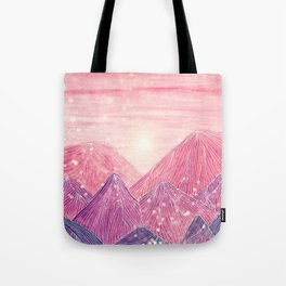 Lines in the mountains XXI Tote Bag