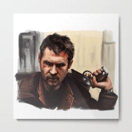 Deckard - Blade Runner Metal Print