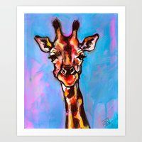Giraffeepoo Art Print
