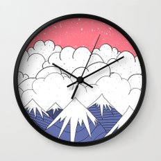 The mountains and the clouds Wall Clock