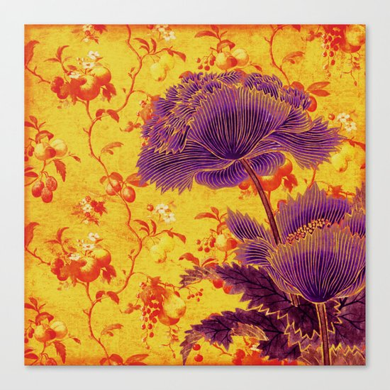 floral chinoiserie Canvas Print