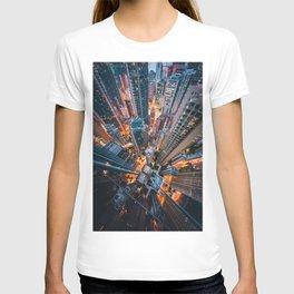 Aerial City Skyline (Color) T-shirt
