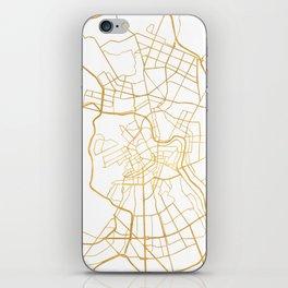 SAINT PETERSBURG CITY STREET MAP ART iPhone Skin