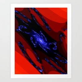 doppel deep blue Art Print