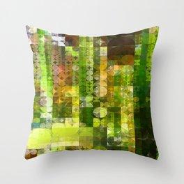 Cactus Garden Abstract Circle Sections 2 Throw Pillow