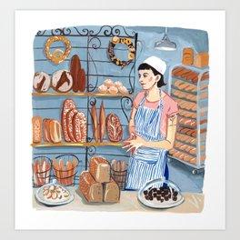 Nora at the Bakery Art Print