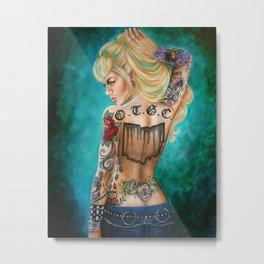 Ohio Tattooed Girls Calendar Cover Metal Print