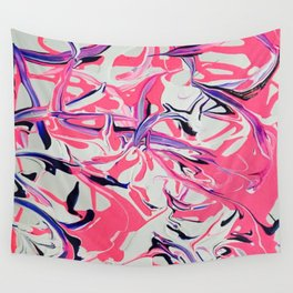 Pink & Purple Paint Drools Wall Tapestry