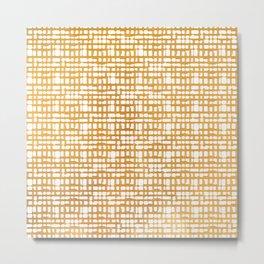 Simple But Golden - Minimalist Lines Metal Print