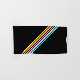 Minimal Abstract Retro Stripes 80s Style - Bakunawa Hand & Bath Towel