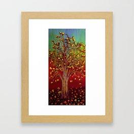 Abstract Fall tree Framed Art Print