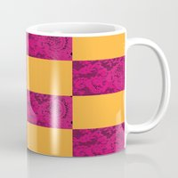 lace Mugs featuring Lace by Genevieve Moye