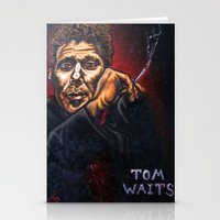 """tom waits Stationery Cards featuring """"Tom Waits"""" by PMS Artwork"""