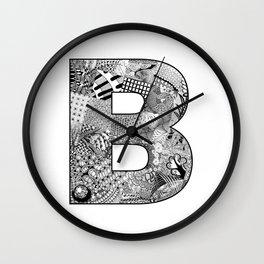 Cutout Letter B Wall Clock