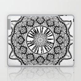 Karma is Only a B**ch if You Are - Be Nice, D***it - Mandala in Black & White Laptop & iPad Skin