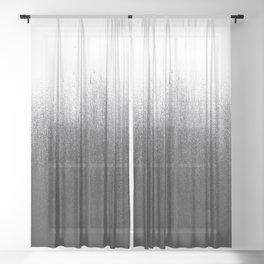 Charcoal Ombré Sheer Curtain