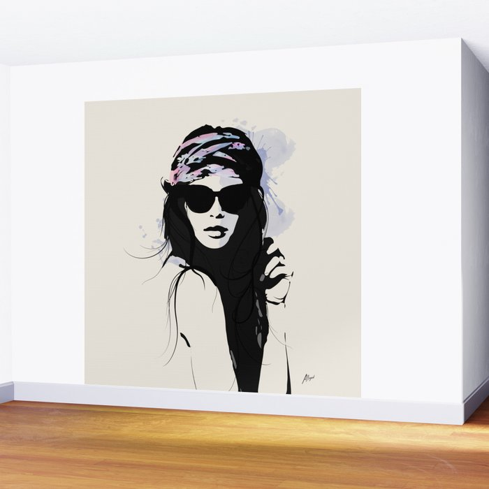 Infatuation - Digital Fashion Illustration Wall Mural