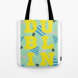 80's Postmodern Dublin Travel Poster Tote Bag