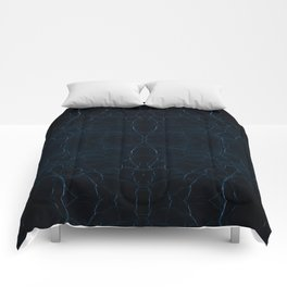 Dark blue leather texture abstract Comforters