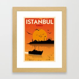 Vintage Istanbul Poster Framed Art Print