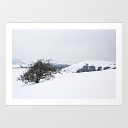 Chilterns in Winter Art Print