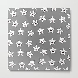 Baby Stars (Gray) Metal Print