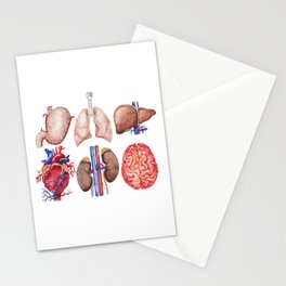 Watercolor organs Stationery Cards