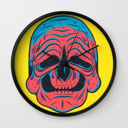 SLOPPY SKULL Wall Clock