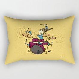 Crazy drummer Rectangular Pillow