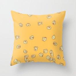 Popcor fever Throw Pillow