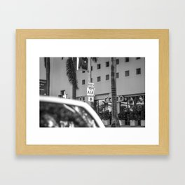 So I continued to A1A, Beachfront Avenue - Miami Framed Art Print