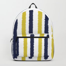 Gold & Navy Blue Stripes Backpack