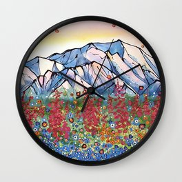 Denali Alpenglow Wall Clock