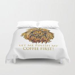 Caffeine lion Duvet Cover