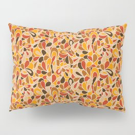 Retro Flowers in warm earth tones - yellow, red and brown Pillow Sham