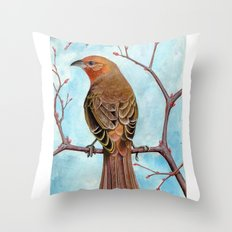Hepatic Tanager Throw Pillow