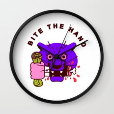 Bite the Hand Wall Clock