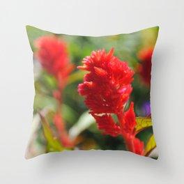 Red Vein Throw Pillow