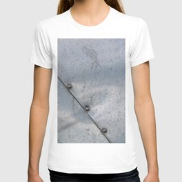 Grunge metal background or texture with scratches and cracks T-shirt
