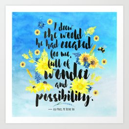 Me Before You - Wonder and Possibility Art Print