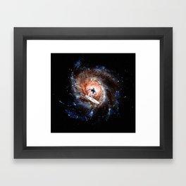 Ride The Spiral Framed Art Print
