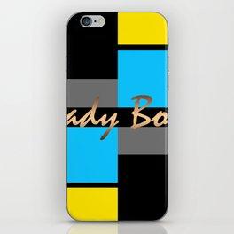 Lady Boss , turquoise ,lemon iPhone Skin
