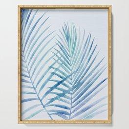 Coastal Palms Watercolor Serving Tray