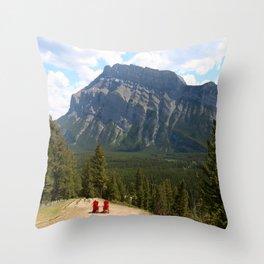 Enjoying The Beautiful View Throw Pillow
