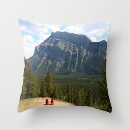 Enjoying The Beautiful View Throw Pillow