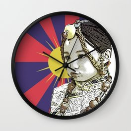 A little Tibetan girl Wall Clock