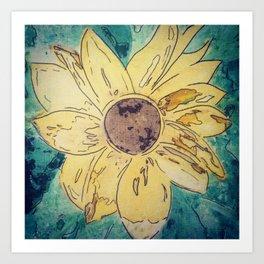 Sunflower madness Art Print