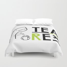 Tea-Rex Duvet Cover
