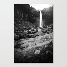 Svartifoss Waterfall Iceland Canvas Print