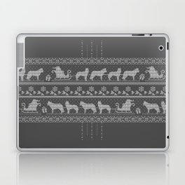 Ugly christmas sweater | Husky grey Laptop & iPad Skin